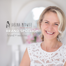 BRAND SPOTLIGHT: Sabina Midwife Web + Brand by Repeatable